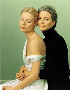 Gwyneth Paltrow and her mother Blythe Danner, Photo Annie Leibovitz