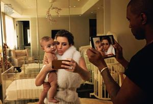 Photo of Kim Kardashian and Kanye West, by Annie Leibovitz