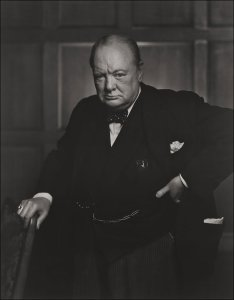 Photo of Winston Churchill by Yousuf Karsh