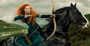 Photo of Jessica Chastain as Merida - Annie Leibovitz